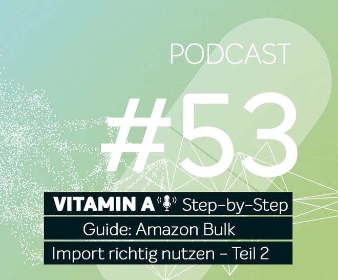 Podcast #53 | Step-by-Step Guide: Amazon Bulk Import richtig nutzen - Teil 2