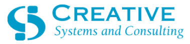 Creative Systems and Consulting, Inc. with Text