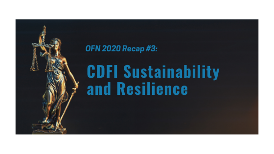 OFN recap #3: CDFI Sustainability and Resilience