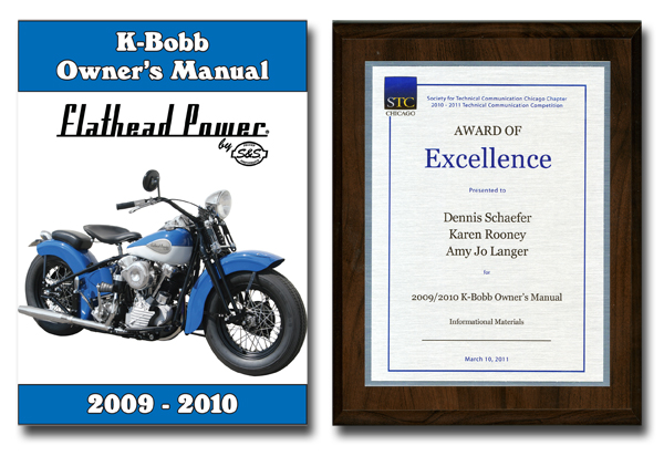 k-bobb manual and award