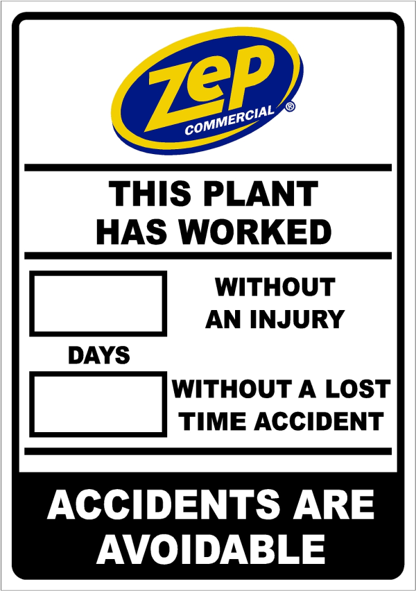 Days Without Incident Safety Sign