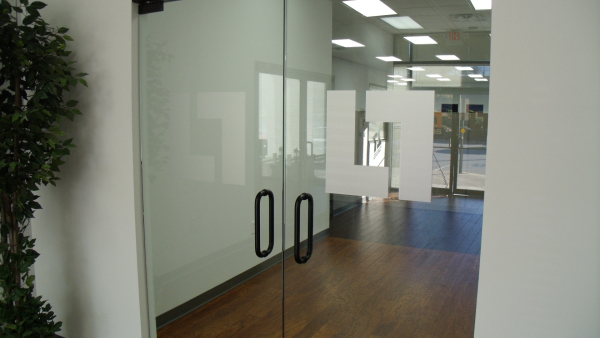 Etched Glass Door Vinyl