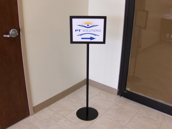 Directional Pedestal Sign