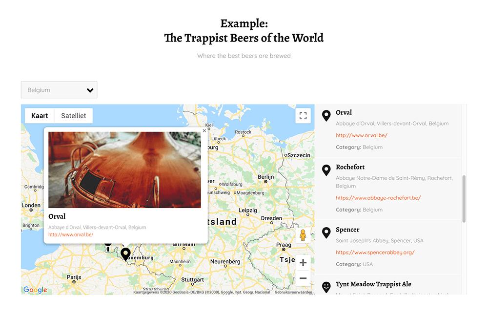 HubSpot Store locator on Google Maps