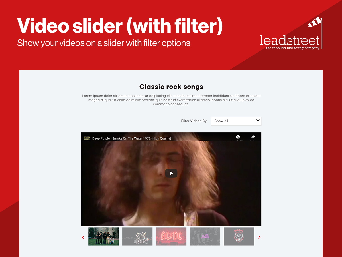 Video Slider with Filter