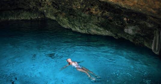 Magic water well adventure (Cenote) in Mexico