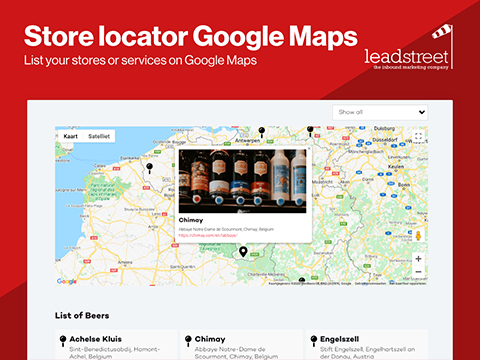 HubSpot Store locator on Google Maps