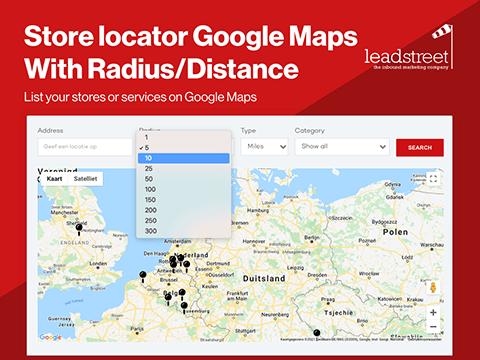 Store locator on Google Maps with Radius