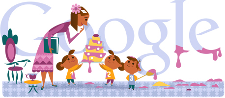 mothers day google doodles