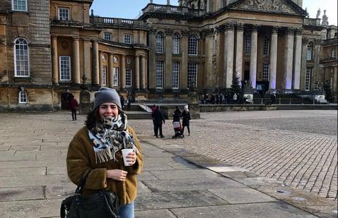 Carolina Jaramillo during her marketing internship in London
