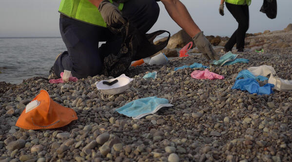 PPE Waste Beach