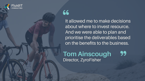 IT due diligence and businessroadmap with the UK's leading cycle industry distributor ZyroFisher