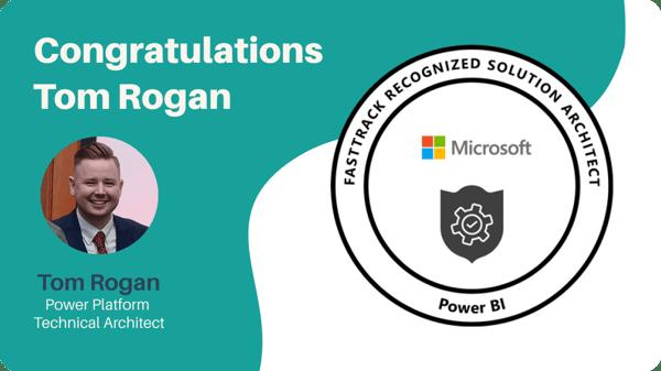 Microsoft awards Tom Rogan FastTrack Recognised Solution Architect