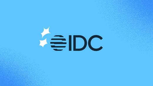 IDC logo on a blue background