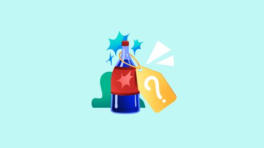 Illustration of bottle witk SKU tag
