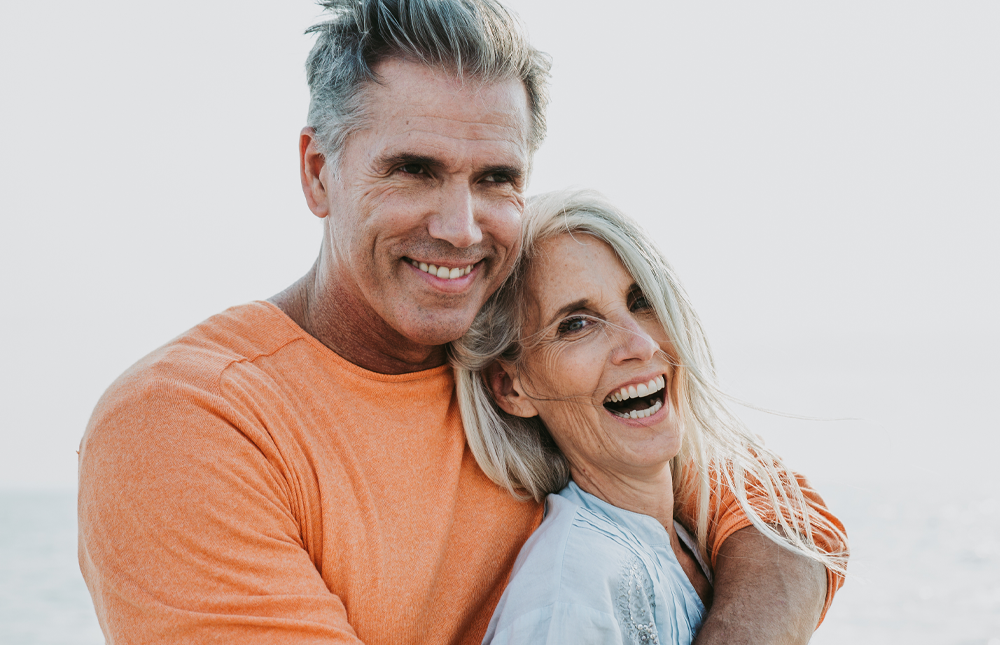 older couple happy getting credit union discounts