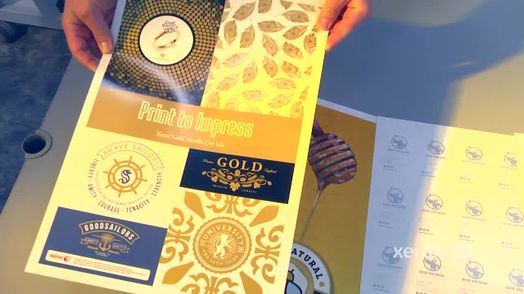 Example of Xerox Gold and Silver Inks on New Presses