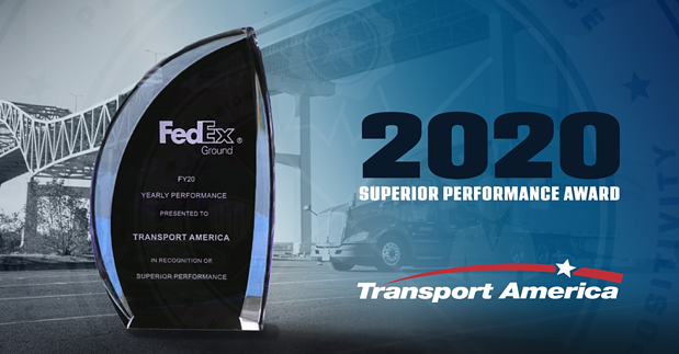 Transport America Receives FedEx 2020 Superior Performance Award
