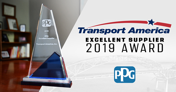 Transport America Named 2019 Excellent Supplier By PPG