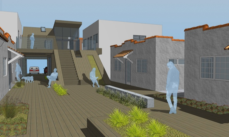 Homeless housing los angeles outdoor space architecture for Homeless shelters los angeles