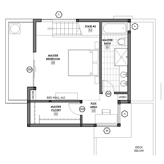 Modern Small House Plans | Narrow Lot House Plans