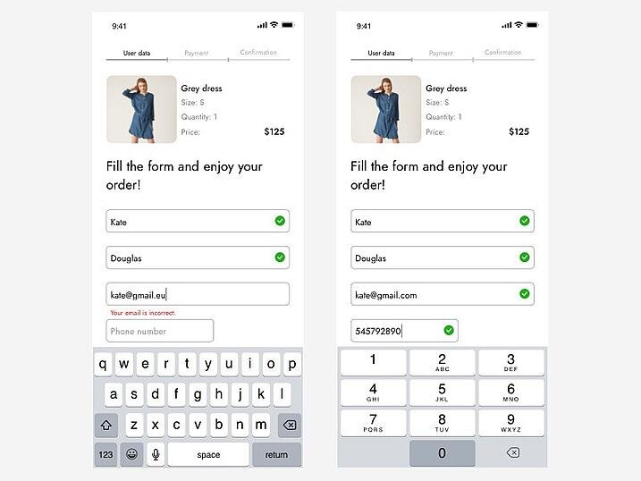 Be responsive to your user - order form concept