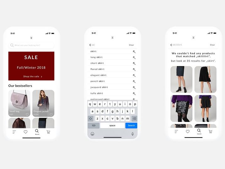 Mobile-first search engine - a design concept
