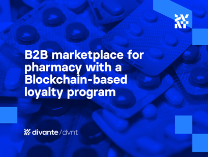 B2B marketplace for pharmacy with a Blockchain-based loyalty program