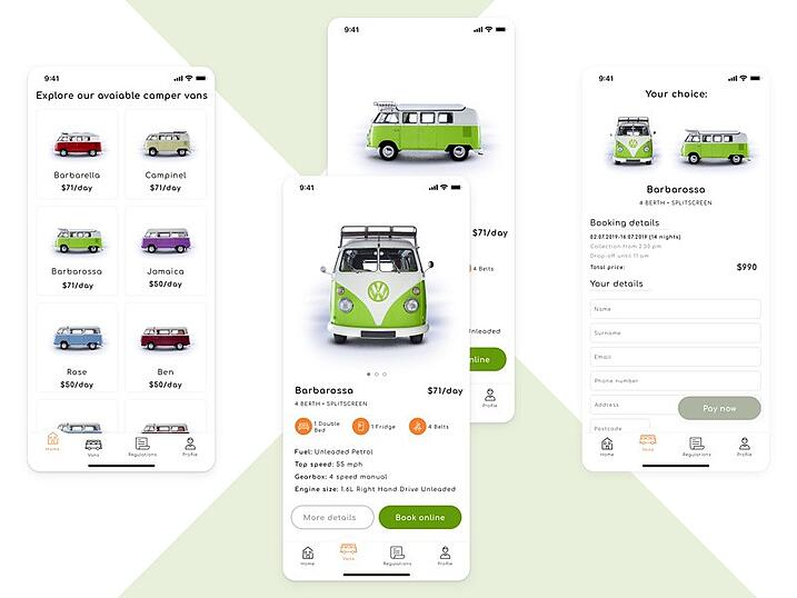 Prioritizing store's content for thumb reach - VW concept