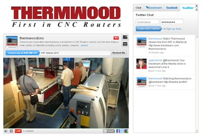 Thermwood Streaming Live From the CabinetMaker/FDM Online Trade Show