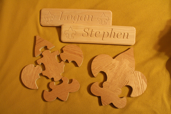 Boy Scout Emblem Puzzles and Name Plaques