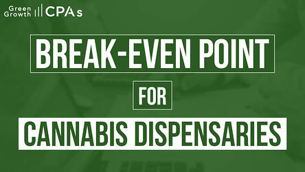 break even point cannabis dispensary