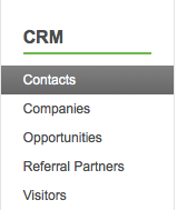 Infusionsoft CRM add new contacts step one.