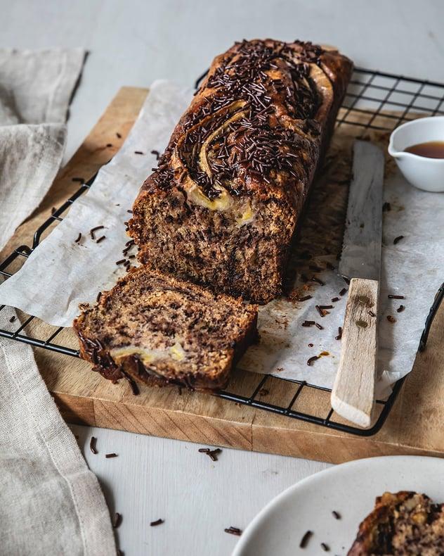 Bananenbrood Met De Ruijter Chocoladehagel Puur