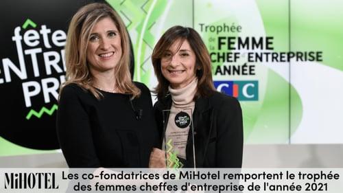Les co-fondatrices de MiHotel remportent le trophée des femmes cheffes d'entreprise de l'année 2021