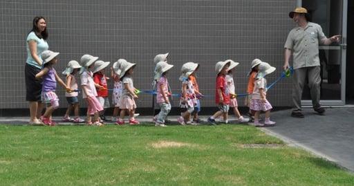 Concordia preschool tour of campus