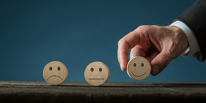 Smile faces, sad, neutral, happy
