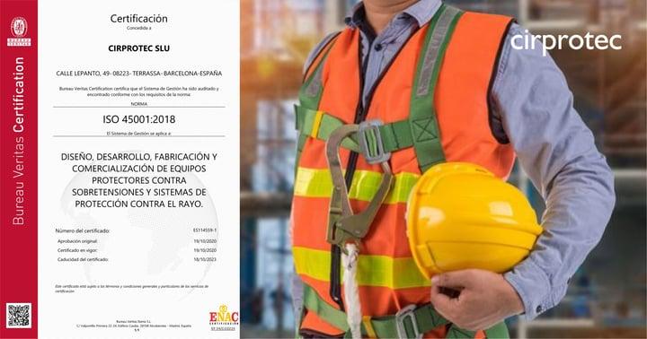 Certificación bajo la norma ISO 45001:2018