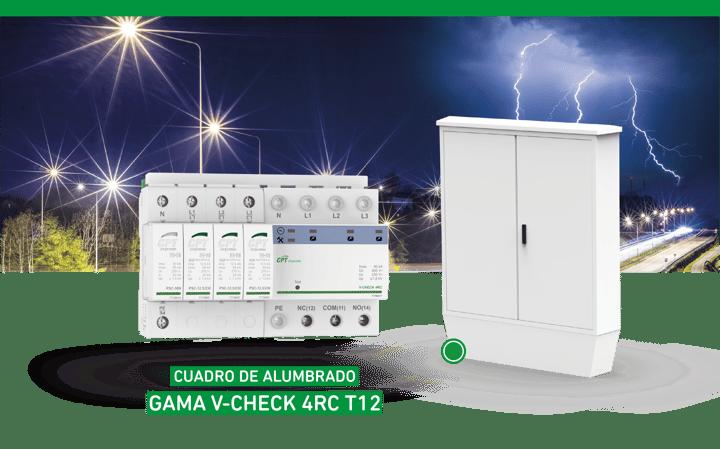 Gama V-CHECK 4RC T12, la primera etapa de protección para instalaciones de alumbrado exterior LED