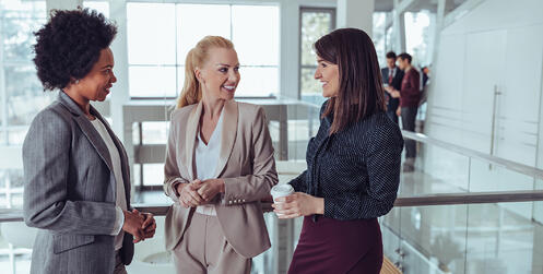 business women having a conversation