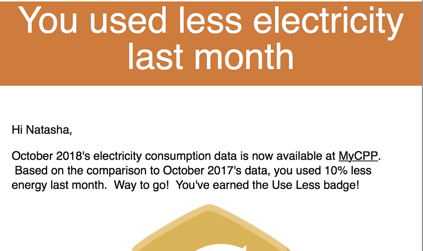 Our month-end utility customer messaging