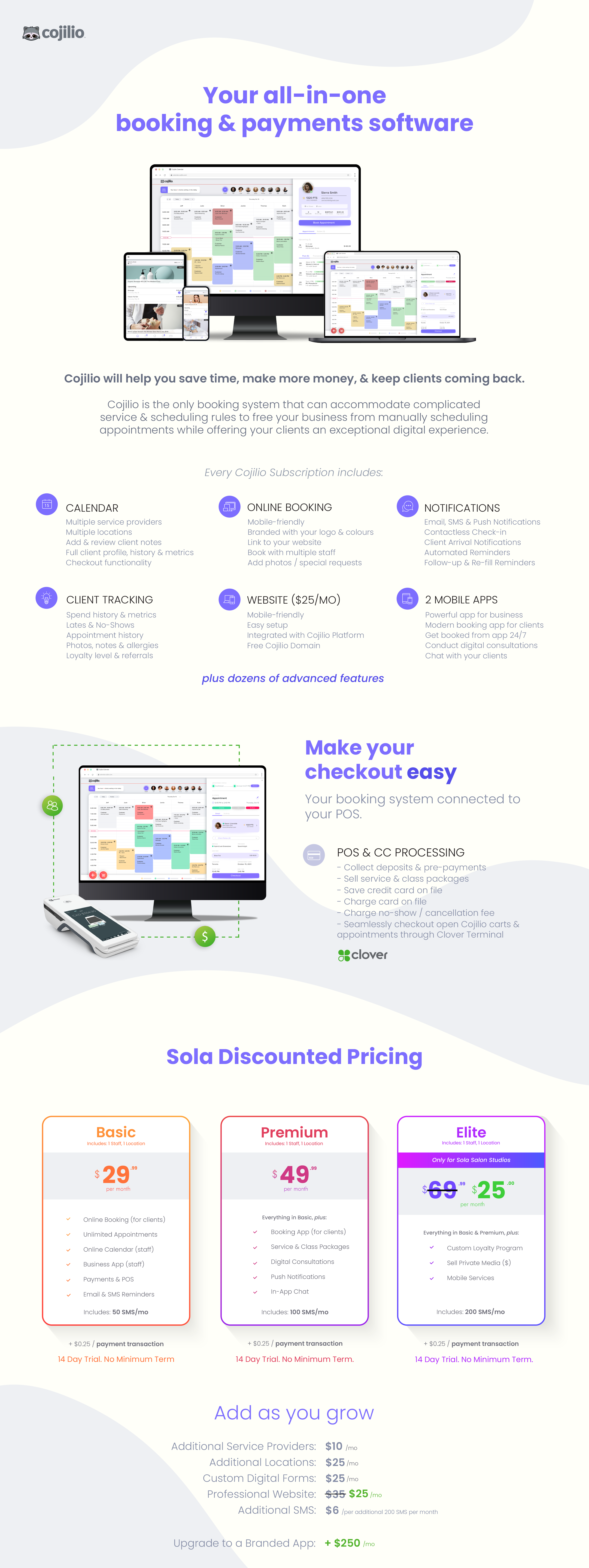 Cojilio for Landing Page