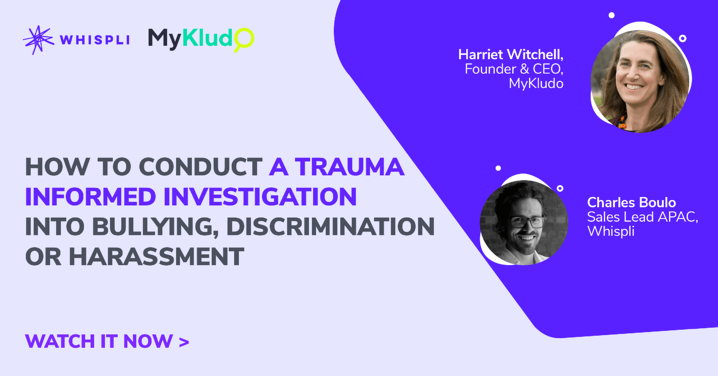 How to conduct a trauma informed investigation