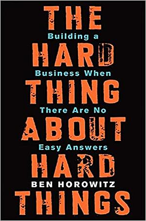Book cover - Hard thing