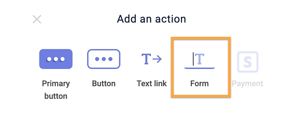 Add an Action Option