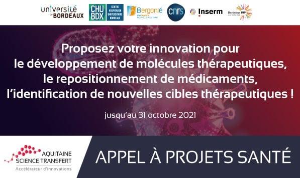 La SATT Aquitaine lance un appel à projets santé, orienté sur les thérapies !