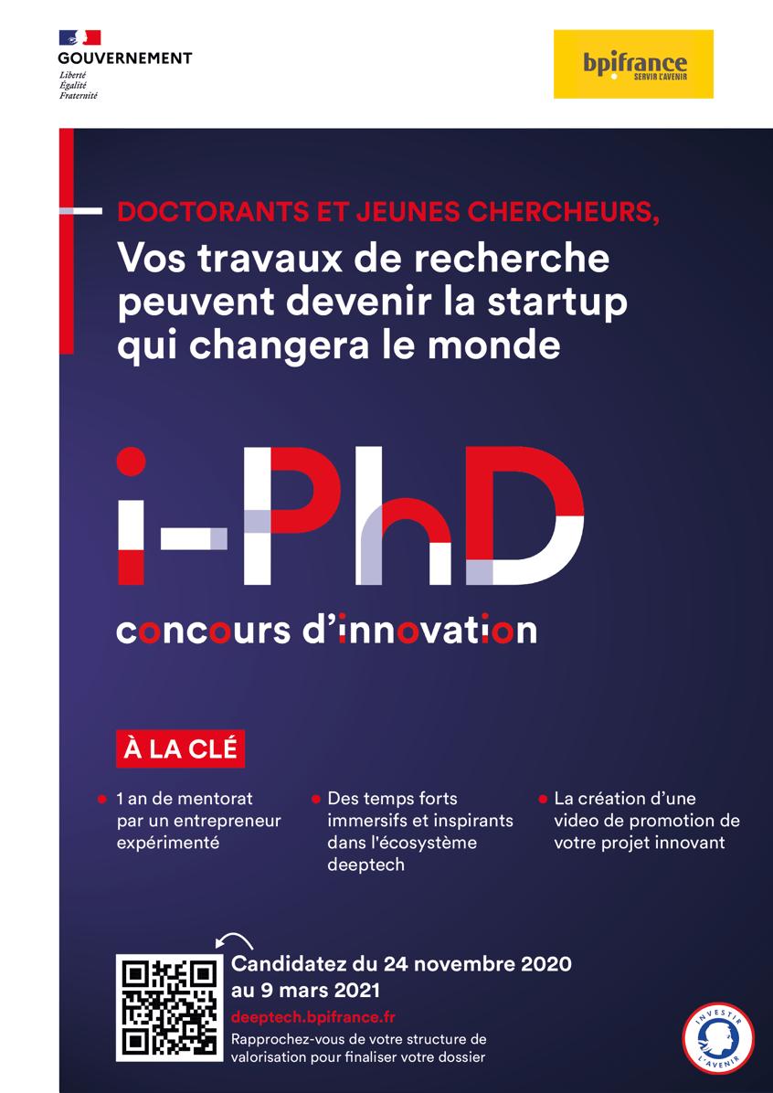 i-PhD 2021 : Le concours d'innovation pour les jeunes chercheurs