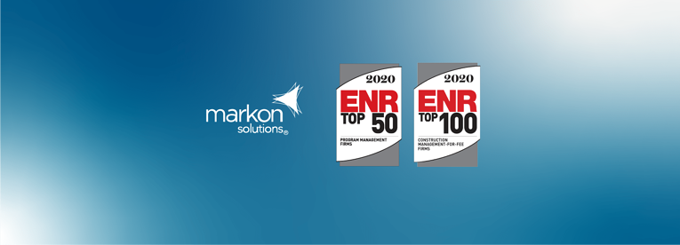 ENR Ranks Markon on Top 100 Construction Management-for-Fee Firms List and Top 50 Program Management Firms List