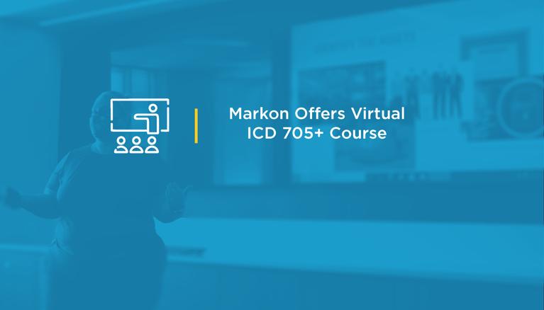 Markon Offers Virtual ICD 705+ Course