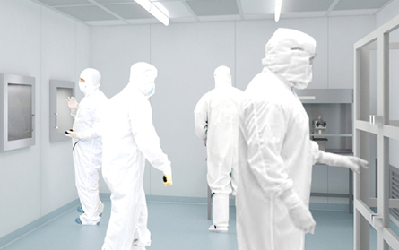 Scientists in Lab Suits